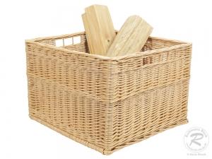 Holzkorb Korb Tragekorb aus gesottener Weide (50x45x33)