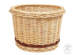 Brotkorb, Dekokorb, Übertopf Korb aus Weide (D:28cm H:20cm) - Einzelstück
