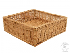 Regalkorb, Schrankkorb, Dekokorb, Korb Kiste aus Weide (45x45x15)
