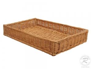Regalkorb, Schrankkorb, Dekokorb, Korb Kiste aus Weide (60x29x14)