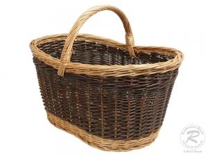 Einkaufskorb Handkorb Weide Korb ungefüttert sehr groß (56x35x40)