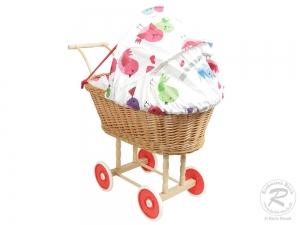 Puppenwagen Klassisch aus Weide Spielzeug Wagen Puppen