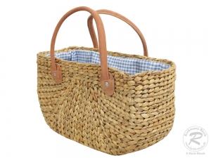 Handtasche Korbtasche robuste Tasche mit Stoffzug (40x20x24/40)