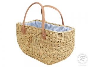 Handtasche Korbtasche robuste Tasche mit Stoffzug (45x23x25/43)