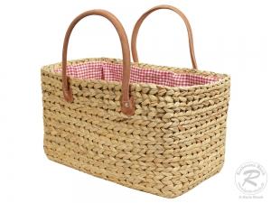 Handtasche Korbtasche robuste Tasche mit Stoffzug (45x25x26/44)