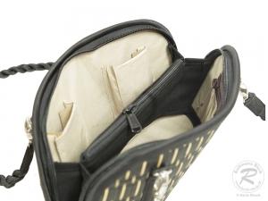 Schultertasche, amicaso Seidengrastasche, Handtasche Tasche aus Seidengras (26x9,5x14/40)