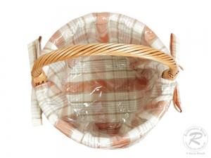 Einkaufskorb Handkorb Weide Korb gefüttert (D:33 H:30/48)