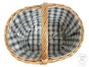 Einkaufskorb Handkorb Weide Korb gefüttert (40x30x25/36)