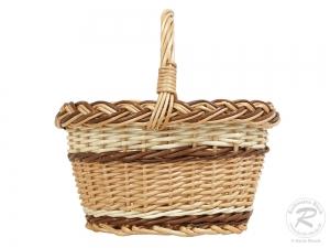 Kinderkorb kleiner Handkorb Weide Korb ungefüttert (25x20x24)