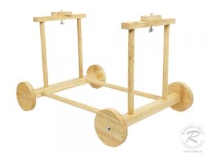 Untergestell für Babykorb, Stubenwagen Korb aus Holz