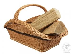 Holzkorb Korb Tragekorb aus gesottener Weide (66x45x47)