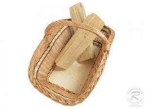 Holzkorb Korb Tragekorb aus gesottener Weide (72x46x40)