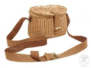 Mittelalterkorb, Umhängekorb, Mittelaltertasche, Einkaufskorb aus Weide Korb (23x13x15)