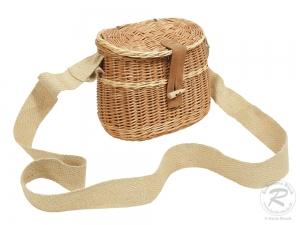 Mittelalterkorb, Umhängekorb, Mittelaltertasche, Einkaufskorb aus Weide Korb (24x14x20)
