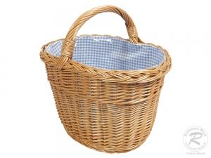 Einkaufskorb Handkorb Weide Korb gefüttert (40x30x38)