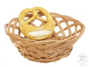 Brotkorb, Dekokorb aus Weide (D:25cm H:10cm)