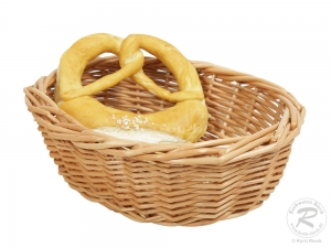 Brotkorb, Dekokorb aus Weide (L:24cm B:19cm H:8cm)
