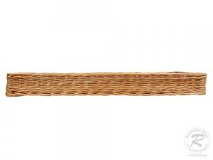 Regalkorb, Schrankkorb, Dekokorb, Korb Kiste aus Weide (80x37x9)