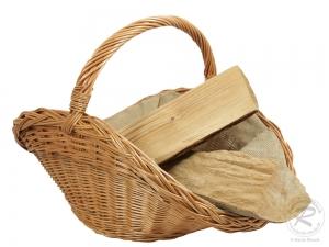 Holzkorb Korb Tragekorb aus gesottener Weide (64x42x25/43)
