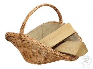 Holzkorb Korb Tragekorb aus gesottener Weide (71x50x29/48)