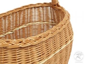 Einkaufskorb Handkorb Weide Korb ungefüttert (37x23x40)