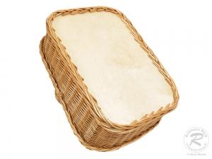 Tablett aus Weide, Trage - Korb - Tablett (54x38x33)