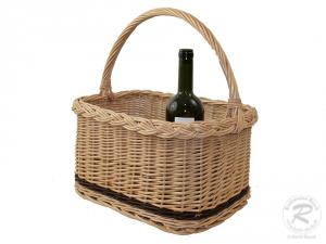 Flaschenkorb Korb für 6 Flaschen aus Weide (40x30x20/40)