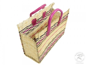 Handtasche Korbtasche robuste Tasche (43x18x34/46)