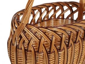 Einkaufskorb Handkorb Weide Korb ungefüttert, klein,  Größe 2 (31x18x21/37)