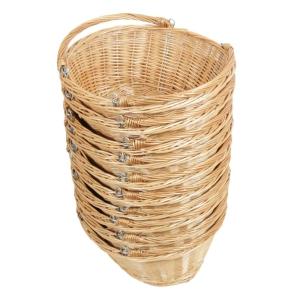 Kleiner Einkaufskorb mit Klapphenkel, Handkorb Weide Korb ungefüttert