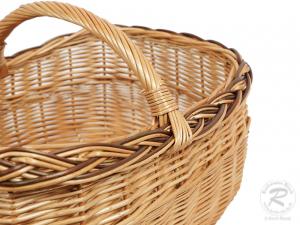 Einkaufskorb Handkorb Weide Korb ungefüttert (49x35x32)