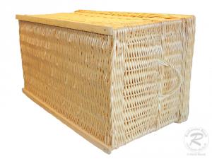 Korbtruhe aus Weide ungefüttert -Korb Truhe- Größe 1 (60x40x39)