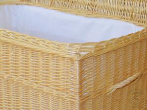 Korbtruhe aus Weide gefüttert -Korb Truhe- Größe 3 (80x48x47)