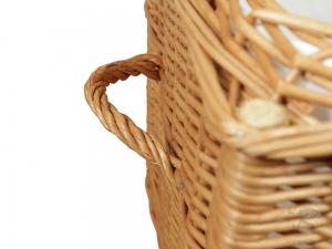 Korbtruhe aus Weide gefüttert -Korb Truhe- Größe 5 (100x59x58)
