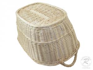 Wäschekorb aus Weide Korb für Wäsche deutsche Fertigung Größe 4  65x45x28/32cm
